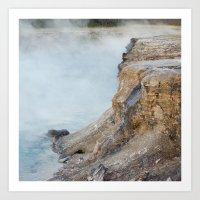 Deep hot spring  Art Print