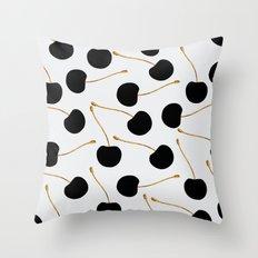Black Cherries Throw Pillow