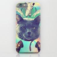 iPhone & iPod Case featuring galactic Cats Saga 3 by Carolina Nino