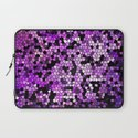 STAINED GLASS PURPLES Laptop Sleeve