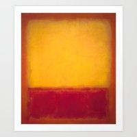 Mark Rothko - Yellow over Purple Art Print