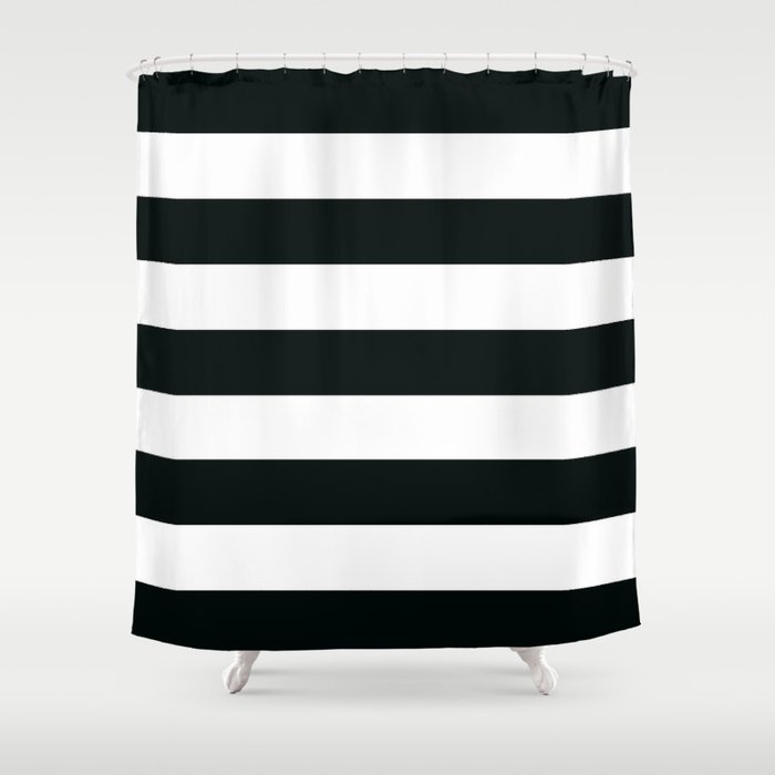Black and White Stripes Shower Curtain by Gathered Nest Designs ...