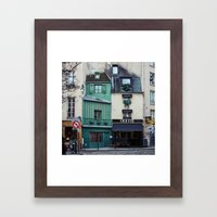 The Streets of Paris, France. Framed Art Print