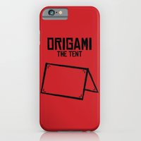 iPhone & iPod Case featuring Origami: The Tent by ccarretti