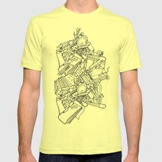 Artist haven Mens Fitted Tee Lemon SMALL