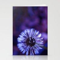 Violet Dandelion Stationery Cards