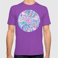 Boho Flower Burst In Pin… Mens Fitted Tee Ultraviolet SMALL
