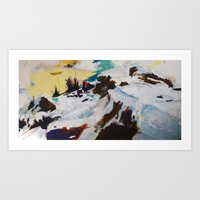 Next Plateau (Rock and Snow) Art Print