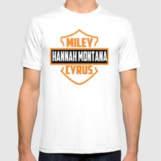 Miley Cyrus Hannah Montana  White SMALL Mens Fitted Tee