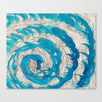 Blue spiral Canvas Print