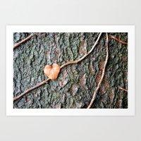 Heart and tree Art Print