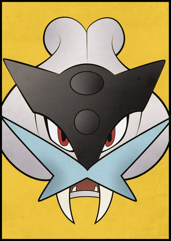 #243 Raikou - Legendary Dog Pokemon Minimalistic Pokemon Poster Art Print