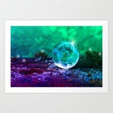 COLLECTION »CRYSTAL BALL« | Tiny Universe Art Print