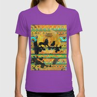 Timon, Pumbaa & Simba. Womens Fitted Tee Ultraviolet SMALL