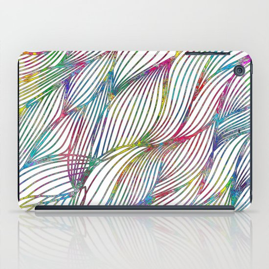 Trace Paint Abstract iPad Case