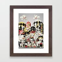 Pets And Monsters Framed Art Print