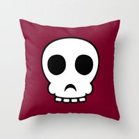 Goofy Skull Throw Pillow