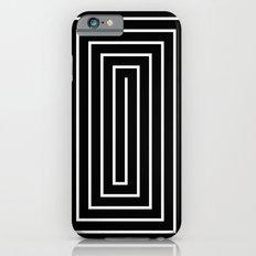 Black & White Spiral iPhone 6 Slim Case