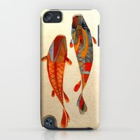 iPod Touch Cases featuring Kolors Koi by Fernando Vieira