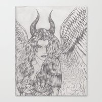 angel or demon Canvas Print