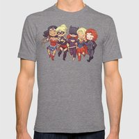 Super BFFs Mens Fitted Tee Tri-Grey SMALL