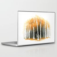 autumn Laptop & iPad Skins featuring Autumn Wolf by Freeminds
