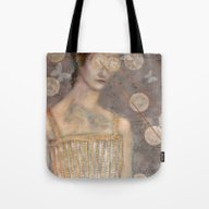Tote Bag featuring Pink Dress by Hinterland Girl