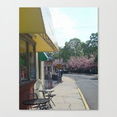Walk By Cafe Canvas Print