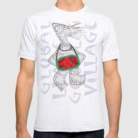 Global Village Mens Fitted Tee Ash Grey SMALL