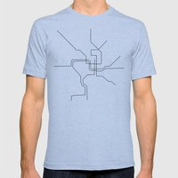 DC Metro Mens Fitted Tee Athletic Blue SMALL