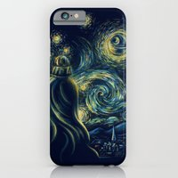 iPhone Cases featuring Death Starry Night by The Cracked Dispensary