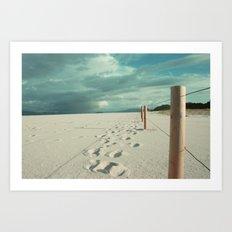 · Follow me · Digital Photography colour. Art Print