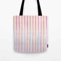 Happy Wobbly Lines II Tote Bag