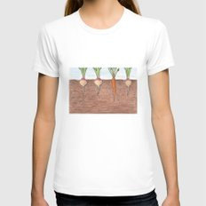 Subterranean Womens Fitted Tee White SMALL