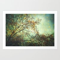 Magic In The Forest/ Gre… Art Print
