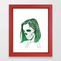 SKull GIrls 2 - Forest Fern Framed Art Print