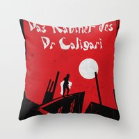 Das Kabinett Des Dr Cali… Throw Pillow