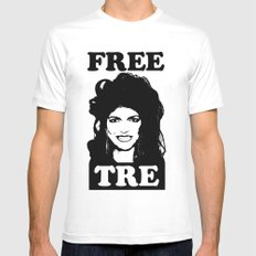 FREE TRE Mens Fitted Tee SMALL White