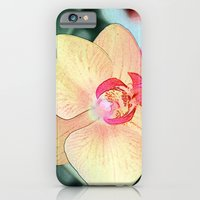 iPhone & iPod Case featuring pretty yellow orchid flowers, botanical art by NatureMatters