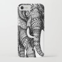 elephant iPhone & iPod Cases featuring Ornate Elephant v.2 by BIOWORKZ