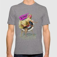 Lucky Butt Mens Fitted Tee Tri-Grey SMALL