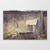 Sit Down a While Canvas Print