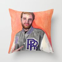 Dan Caffery by Alex Czysz Throw Pillow