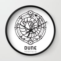 SANDWORM: ARRAKIS BADGE Wall Clock