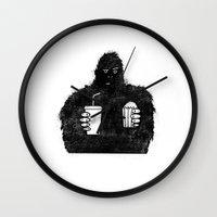 Bigfoot At The Movies Wall Clock