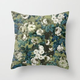 Throw Pillow - Midnight Garden - Burcu Korkmazyurek