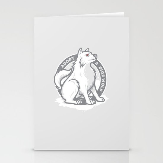 Adopt A Dire Wolf Stationery Card