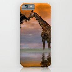 Giraffe at Sunset iPhone 6 Slim Case