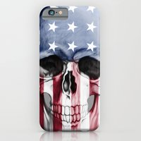 iPhone & iPod Case featuring American Skull by Adel