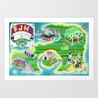 FJH ✮ Cartography EP Art Print